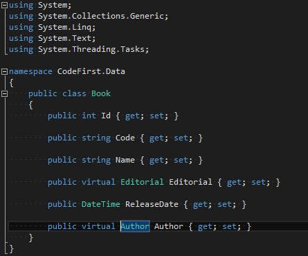 CodeFirst - Clase Book