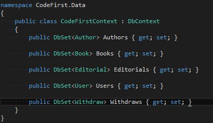 CodeFirst - Nuevo Context