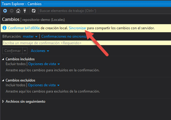 GitVS2013 - CommitCorrecto