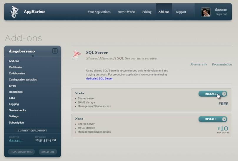 AppHarbor - InstalarSQLServer
