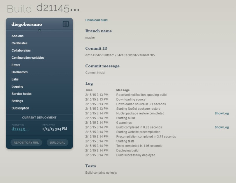 AppHarbor - LogProcesamientoCommit