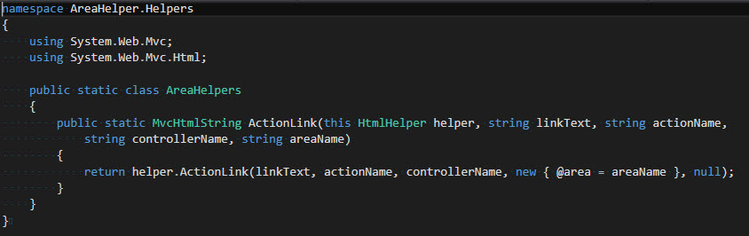 HelperAreas - HelperActionLink