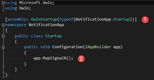 ImplementacionSignalR - ClaseStartup