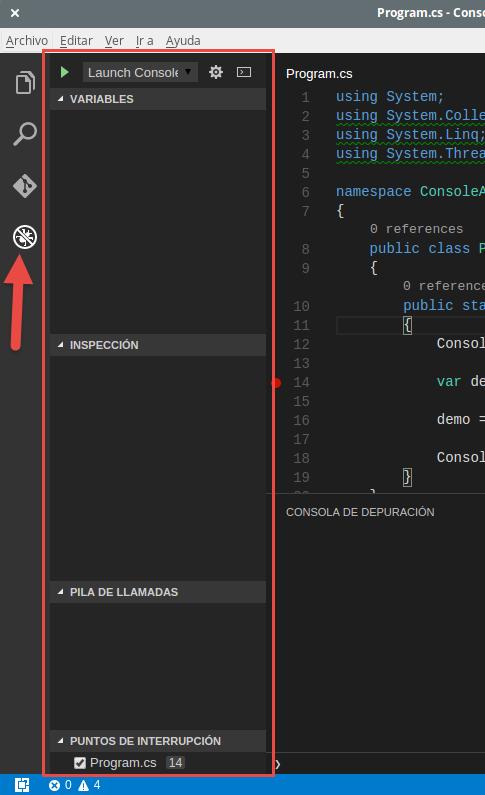 VSCodeDebugUbuntu - PanelDebug