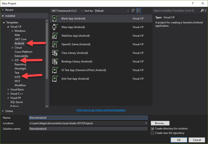 ConfiguracionXamarin - OpcionesProyecto