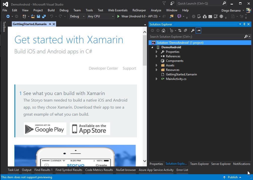 ConfiguracionXamarin - ProyectoCreado