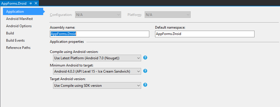 XamarinEntornoAndroid - ApplicationOptions.png