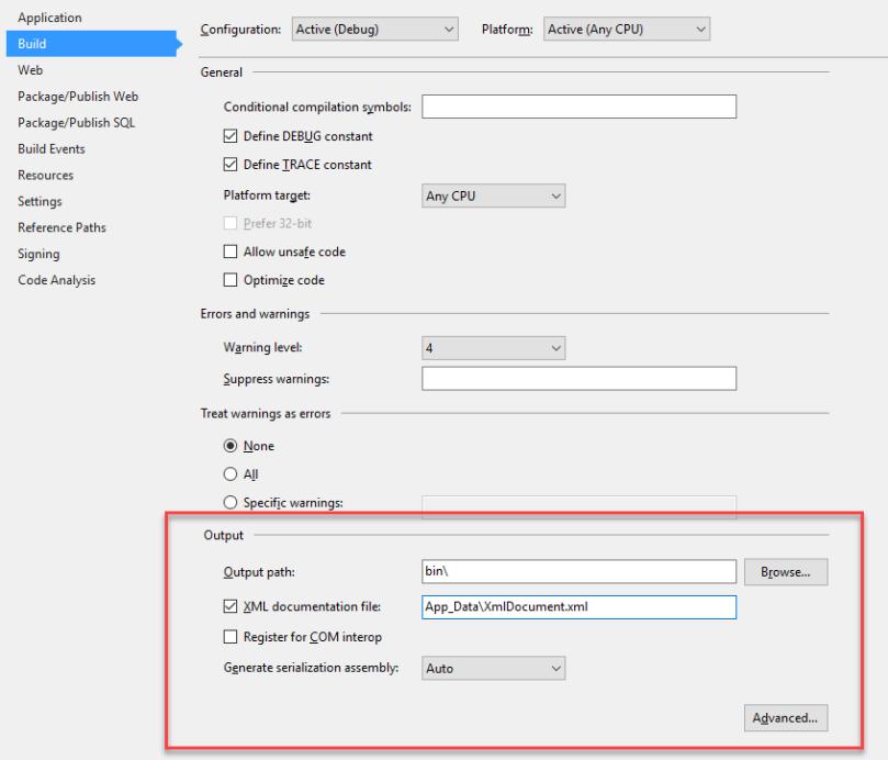 WebApiDoc - XMLProjectChange